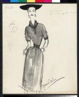 Cashin's illustrations of knit ensembles designed for Guttman Brothers. f07-08