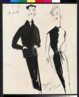Cashin's illustrations of knit ensembles designed for Guttman Brothers. f07-09
