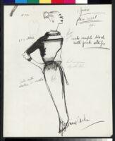 Cashin's illustrations of knit ensembles designed for Guttman Brothers. f07-12
