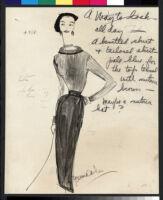 Cashin's illustrations of knit ensembles designed for Guttman Brothers. f07-20