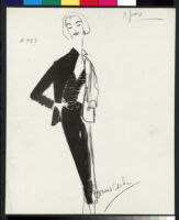 Cashin's illustrations of knit ensembles designed for Guttman Brothers. f07-22