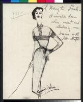Cashin's illustrations of knit ensembles designed for Guttman Brothers. f07-23