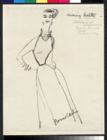 Cashin's illustrations of knit ensembles designed for Guttman Brothers. f08-07