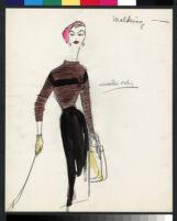 Cashin's illustrations of knit ensembles designed for Guttman Brothers. f08-08