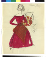 Cashin's illustrations of costume designs for theatrical productions and events. f02-01