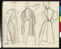 Cashin's rough sketches of ready-to-wear designs for Sills and Co. b072_f05-19