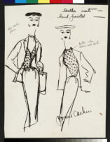 Cashin's illustrations of hand-painted leather separates designed for Sills and Co. f10-06