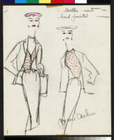 Cashin's illustrations of hand-painted leather separates designed for Sills and Co. f10-07