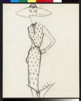 Cashin's illustrations of hand-painted leather separates designed for Sills and Co. f10-09