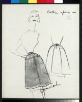 Cashin's illustrations of leather or suede ready-to-wear designs for Sills and Co. f03-25