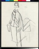 Cashin's illustrations of leather or suede ready-to-wear designs for Sills and Co. f03-03