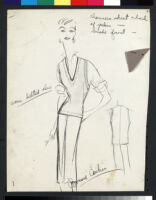 Cashin's illustrations of ready-to-wear designs featuring suede with silk charmeen for Sills and Co. f01-08