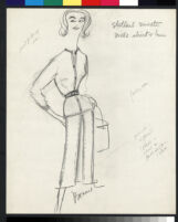 Cashin's illustrations of leather or suede ready-to-wear designs for Sills and Co. f03-16