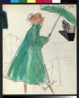 Cashin's illustrations of coat designs for Norman Zeiler, with swatches. f02-02