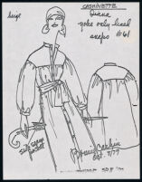 """Cashin's illustrations of """"Cashinette"""" designs for Russell Taylor, Spring II, 1980 collection."""