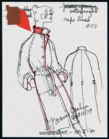 Cashin's illustrations of ready-to-wear designs for Russell Taylor,  Spring II 1980 collection. f09-06