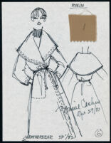 Cashin's illustrations of ready-to-wear designs for Russell Taylor, Spring 1982 collection. f01-06