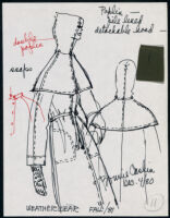 Cashin's illustrations of ready-to-wear designs for Russell Taylor, Fall 1981 collection. b050_f01-10