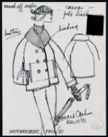 Cashin's illustrations of ready-to-wear designs for Russell Taylor, Fall 1981 collection. b050_f01-11