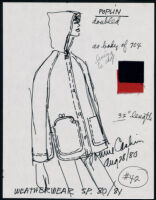 Cashin's illustrations of ready-to-wear designs for Russell Taylor, Spring 1980 - 1981 collection. b048_f05-39