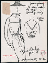 Cashin's illustrations of ready-to-wear designs for Russell Taylor, Spring 1980 collection. b055_f05-20