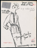 Cashin's illustrations of ready-to-wear designs for Russell Taylor, Spring 1980 collection. b055_f05-18