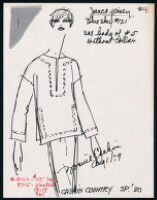 Cashin's illustrations of ready-to-wear designs for Russell Taylor, Spring 1980 collection. b055_f06-22