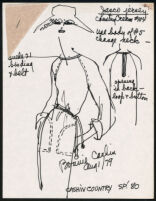 Cashin's illustrations of ready-to-wear designs for Russell Taylor, Spring 1980 collection. b055_f06-23
