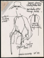 Cashin's illustrations of ready-to-wear designs for Russell Taylor, Spring 1980 collection. b055_f06-24