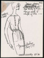 Cashin's illustrations of ready-to-wear designs for Russell Taylor, Spring 1980 collection. b055_f06-26
