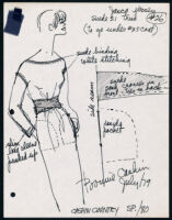 Cashin's illustrations of ready-to-wear designs for Russell Taylor, Spring 1980 collection. b055_f06-06