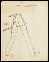 "Cashin ""Hitchhiker"" pants design illustration. f04-01"