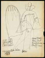 Rough illustrations of Cashin's design ideas, including headcovers. b059_f05-01