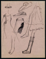 Rough illustrations of Cashin's design ideas, including headcovers. b059_f05-17