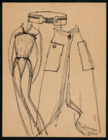 Rough illustrations of Cashin's design ideas, including headcovers. b059_f05-18
