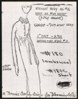 Cashin's illustrations of knitwear designs. b185_f07-13