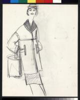 Cashin's illustrations of uniforms designed for American Airlines flight attendants. b078_f08-18