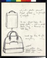Cashin's illustrations of uniforms designed for American Airlines flight attendants. b078_f08-04