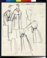 Cashin's illustrations of uniforms designed for American Airlines flight attendants. b078_f08-05