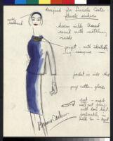 Cashin's illustrations of uniforms designed for Lincoln Center ushers. b078_f09-01
