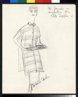 Cashin's illustrations of uniforms designed for American Airlines flight attendants. b078_f08-17