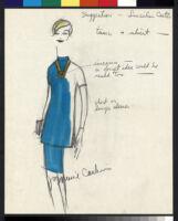 Cashin's illustrations of uniforms designed for Lincoln Center ushers. b078_f09-02