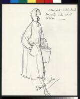 Cashin's illustrations of uniforms designed for American Airlines flight attendants. b078_f08-16
