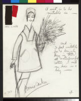 Cashin's illustrations of rainwear designs for Sills and Co. f01-05