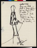 Cashin's illustrations of fur coat designs. f06-19