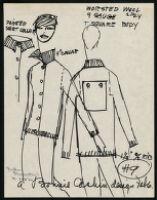 Cashin's illustrations of knitwear designs. b184_f01-15