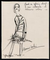 Cashin's illustrations of knitwear designs. b183_f03-05