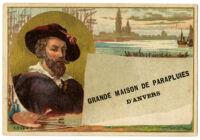 Grande maison de parapluies d'Anvers [inscribed]