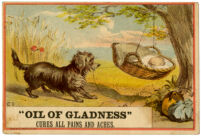 """Oil of Gladness"" cures all pains and aches [inscribed]"