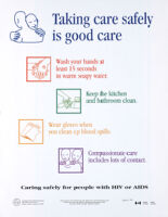 Taking care safely is good care [inscribed]